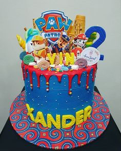 [New] The 10 Best Dessert Ideas Today (with Pictures) - PAW Patrol is on roll! PAW Patrol drip cake and cupcakes. For orders and inquiries kindly send us a DM or on viber at . # paw patrol cake Security Check R Special Birthday Cakes, 4th Birthday Cakes, Funny Wedding Cake Toppers, Vintage Cake Toppers, Torta Paw Patrol, Paw Patrol Cupcakes, Snowflake Wedding Cake, Paw Patrol Birthday Cake, Dessert Decoration