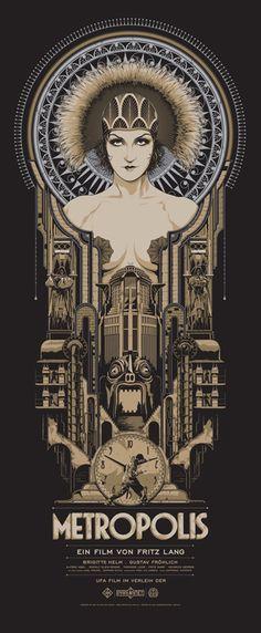 Metropolis poster #poster #flat #illustration http://www.artcoursework.com/illustration.html
