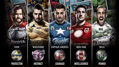 MARVEL SUPER HEROES MEET THE SUPER ATHLETES FROM THE AUSTRALIAN NATIONAL RUGBY LEAGUE #AvengersAgeOfUltron
