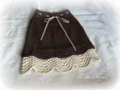 Knit Skirt, Knit Dress, Crochet Crafts, Knit Crochet, Baby Barn, Black And White Skirt, Amai, Knitting For Kids, Rock
