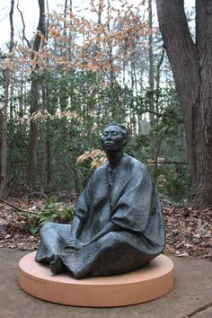 Meditation in the garden - Annmarie Gardens in January - Solomons, MD by MMcDowell