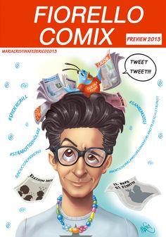 la cover disegnata e  colora da me per i fumetti di fiorello pubblicati sul suo sito ufficiale;  http://www.rosariofiorello.it/comix/