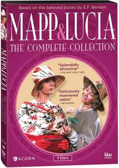 """Mapp & Lucia"" Mapp & Lucia: The Complete Collection at BBC Shop Don't let their posh accents fool you. It's every woman for herself in the hilarious battle to be Queen Bee of a charming English seaside village in the 1920s."