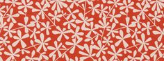 Floral Orange Fabric Flower Fabric Woven Fabric by RoomKandi
