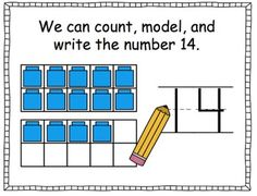 This free SmartBoard activity includes a variety of interactive slides for teaching the number 14. The first slide includes the lesson objective with picture support. In this lesson, students can manipulate cubes and toys to build the number 14. I also included some problem solving with sample questions for the teacher to ask.