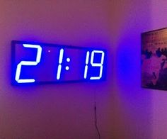 Big, Auto Dim, Room Clock (using Arduino and WS2811)