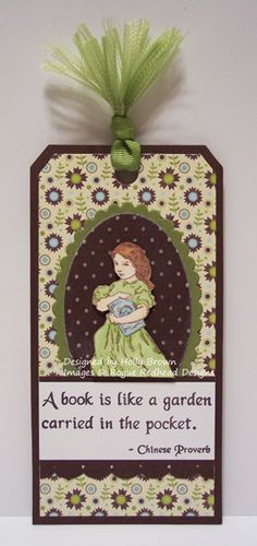 Glitter, Stamps, and Ink (Oh My...): Rogue Redhead Bookmark by Holly using her RRD Relish Reading stamps