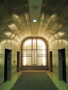 1948 Art Deco Lobby - Ted Rogers School of Management, Bay and Dundas, Toronto - Photo by Derek Watson - Art Deco Architecture