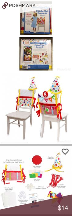 The Elf on the Shelf Birthday Tradition The Elf on a Shelf Birthday Chair Decoration Kit  Elf on a Shelf Accessories Hats