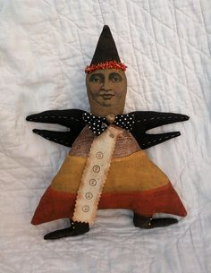 Candy Corn Primitive Halloween Doll Candy Corn Guild OFG Team on Etsy, $39.50