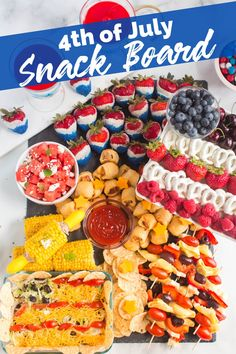4th of July Snack Board - Family Fresh Meals Family Fresh Meals, Easy Family Meals, Quick Easy Meals, Family Recipes, Holiday Appetizers, Best Appetizers, Strawberry Recipes Canning, Corndog Recipe, My Favorite Food