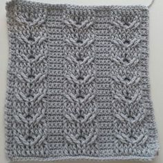 The third square in the Crochet Cables series.   Double Cables.   This is Part 2, rows 5-6.  Play list here:  ...  Part 1: ... Part 2: .... Art, Cable,