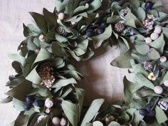 ユーカリのリース  wreath  dryflower driedflower ドライフラワー eucalyptus 木の実 |FLEURI blog