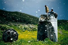 Villagers collecting scrap from a crashed spacecraft, surrounded by thousands of white butterflies in the Altai Territory, Russia, in Environmentalists fear for the region's future due to the toxic rocket fuel. (Photo by Jonas Bendiksen/Magnum Photos) Magnum Photos, Space Debris, Marc Riboud, Space Opera, Art Et Design, Space Junk, Martin Parr, Photographer Portfolio, Environmentalist