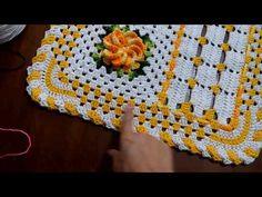 Parte 1/2 Tapete em crochê Telma Barros - YouTube