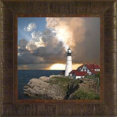 Portland Head Sunset By Todd Thunstedt 17.5x17.5 Portland Head Split Rock Maine Minnesota Wisconsin Door County Two Harbors Sherwood Point Lighthouse Maritime Sunrise Clouds Sky Rays Guiding Light Ship Fog Horn Lake Ocean Sea Marker Beacon Framed Art Print Wall Hanging Décor Picture ThunderMark Art and Graphics http://www.amazon.com/dp/B00OP8P4VS/ref=cm_sw_r_pi_dp_OpoGvb1W819JZ