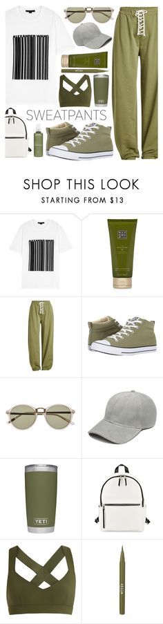 """sweatpants"" by sandevapetq ❤ liked on Polyvore featuring Alexander Wang, Rituals, Puma, Converse, Witchery, French Connection, No Ka'Oi, Stila and Aveda"