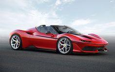 Ferrari J50 本日、フェラーリは、国立新美術館で開催されたフェラーリ日本進出50周年記念式典において、新しい極少数限定シリーズのビスポーク・モデル、J50を発表しました。