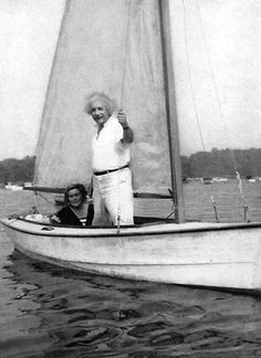 It is said that sailing was a passion for him. The most will already recognized him - Albert Einstein