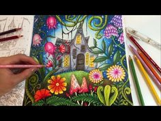 THE MAGIC LAND | Romantic Country The Second Tale Coloring Book | Coloring With Colored Pencils - YouTube
