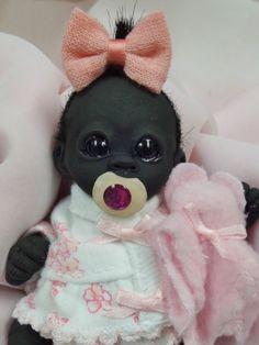 OOAK Baby Gorilla Monkey Girl Sculpted Polymer Clay Art Doll Teddy Bear #BreathofHeaven