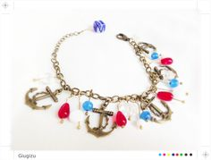 Sailor inspired bracelet, Check my blog here to see more of my sea/sailor inspired accessories: http://giugizu.blogspot.it/2013/07/pin-up-sailor-accessories.html