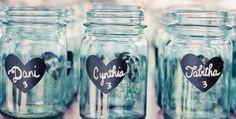 Heart Chalkboard Labels - 150 - DIY Chalkboard Mason Jars, Place Settings, Wedding Chalkboards FREE Shipping. $81.25, via Etsy.