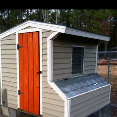 My DIY chicken coop.  DH made it!