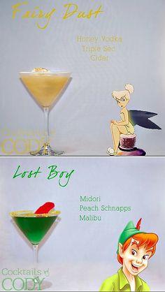 Disney Inspired Cocktails // Peter Pan // Tinkerbell