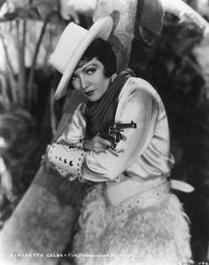 cowgirl Claudette Colbert