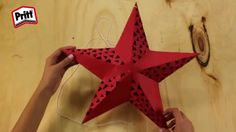 Manualidades fáciles estrella 3D de papel