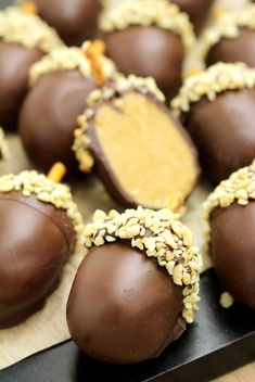 Looking for a perfect fall dessert?I was going through my cookbook and found this recipe that I would like to share - Peanut Butter Chocolate Acorn Truffles