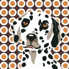 """THE AMAZING DALMATIAN 12"""" x 12"""" print by Naked Decor"""