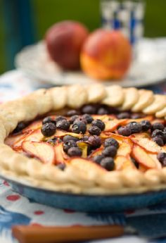 Sweet Paul's Nectarine & Blueberry Pie