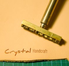 Customized Copper Stamp  for Leather Stamping / Wood by LogeeBox, $30.00
