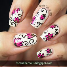 Vic and Her Nails: VicCopycat -  Seize The Nail's Vintage Floral