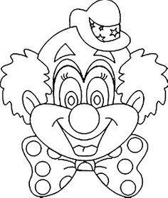 clown gezicht kleurplaat - Google zoeken