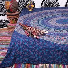 Hippie Indian Tapestry Mandala Throw Wall Hanging Bohemian Bedspread Dorm Decor #Handmade #BedspreadBedsheetWallHanging
