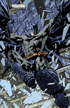 Batman crashes onto the scene  From the upcoming Detective Comics #27  Art by Bryan Hitch  ...