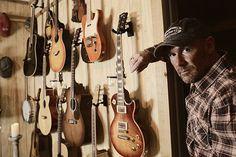 Scott Coner with guitars.
