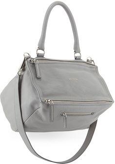 Givenchy Pandora Medium Leather Satchel Bag, Pearl Gray -  2,095.00  Givenchy Pandora Medium, Givenchy 555981e8f2