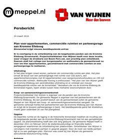 Persbericht over planontwikkeling aan Kromme Elleboog/Groenmarkt in Meppel