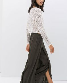 Image 2 of LOOSE FIT ELASTICATED TROUSERS from Zara