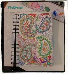 zentangles journal-- good idea