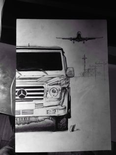 G Mercedes with plane MR2017