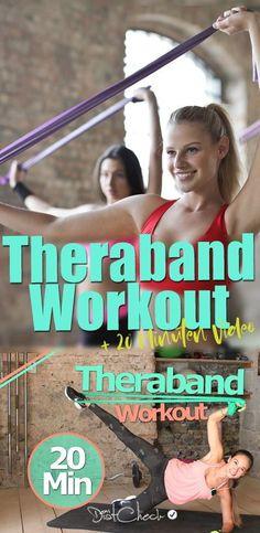 Lust auf ein 10 minütiges Workout mit dem Theraband? Mit diesen Bändern kann man richtig gut trainieren und trifft fast jede Muskelgruppe.