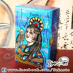 Chamán  handmade box Caja Mágica Pintada a Mano www.facebok.com/Yakarte