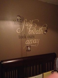 Wall decal for baby room Sign Quotes, Wall Quotes, Wall Sayings, Vinyl Wall Art, Wall Decals, Family Wall, Baby Decor, Kids Furniture, Baby Love