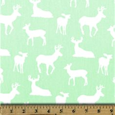 Deer Silhouette Mint/Twill - Premier Prints Mint Green Nursery, Silhouette Mint, Premier Prints, Nursery Design, Fabric Weights, Crafts For Kids, Cotton Fabric, Crafting, Design Inspiration
