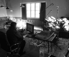 "Recording album 5 ""On The Radio"" in the 200 year-old reverb-tastic Coneysthorpe Village Hall - Should be available via all the usual on-line outlets and our own website this April :))"